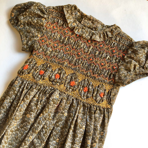 The perfect Fall Ditsy Smocked Dress size 3-4