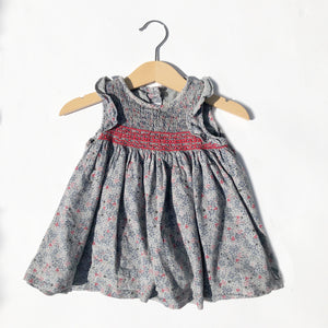 Little Ditsy Smocked Dress with Ruffles Size 6-12months