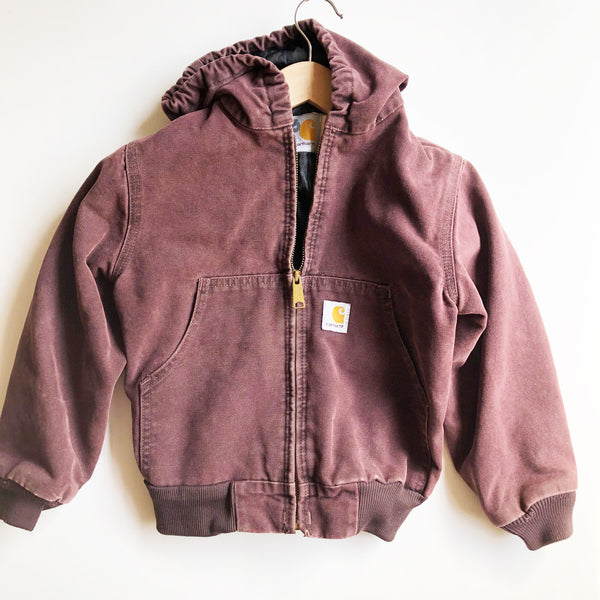 Carhartt Vintage Bordeaux Hooded Jacket size 7-8