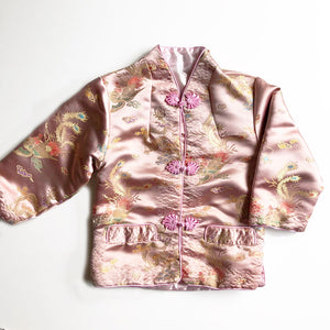 Beautiful Vintage Cheongsam Satin jacket Size 3-4