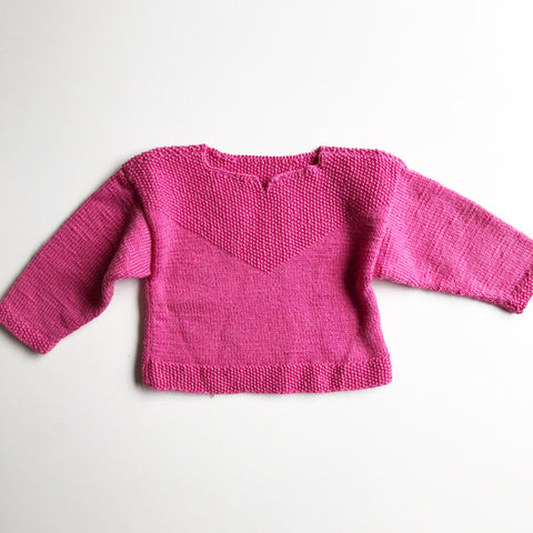 Baby Hand knit Sweater size 12-18 months