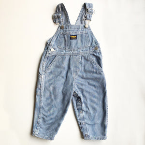 Oshkosh Preloved Stripe Overalls size 2