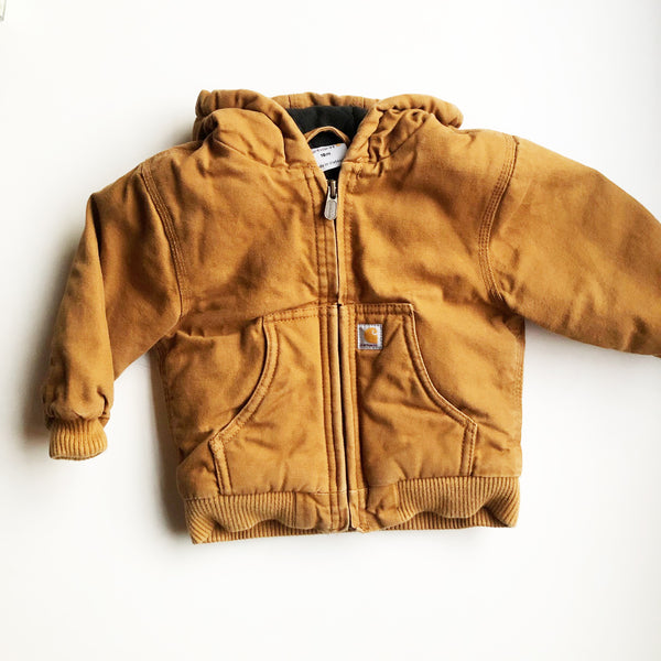 Carhartt Preloved Hooded Jacket size 18 months.