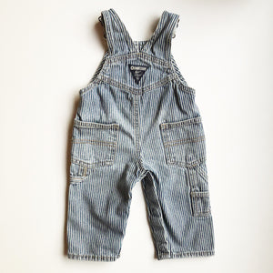 Oshkosh Preloved Stripe Overalls size 6 months