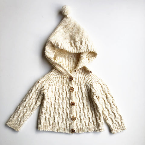 Hand Knit Baby Cardigan size 6-12 months