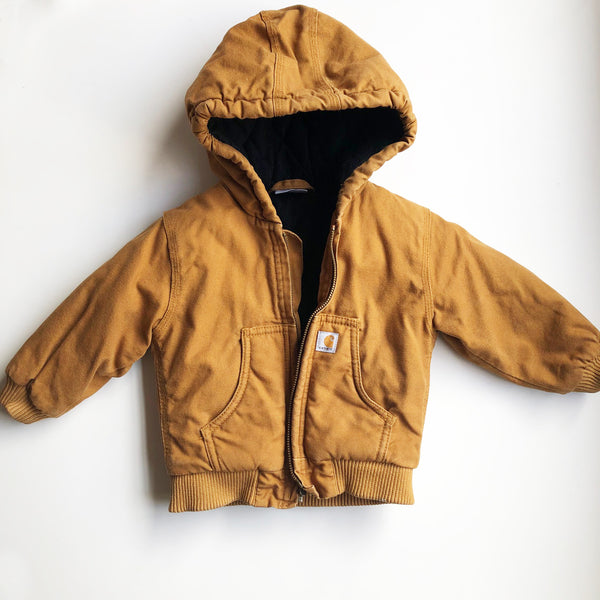 Carhartt Preloved Hooded Jacket size 12 months.