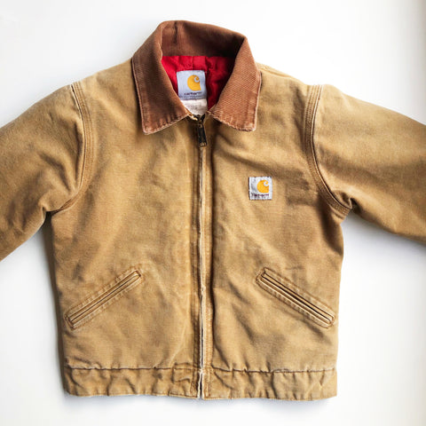 Carhartt jacket with Contrast Collar size 8