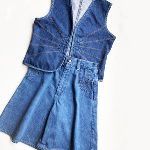 Denim Culotte and Waistcoat set size 12-14