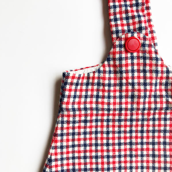 Little Wool Check Pinafore size 2-3