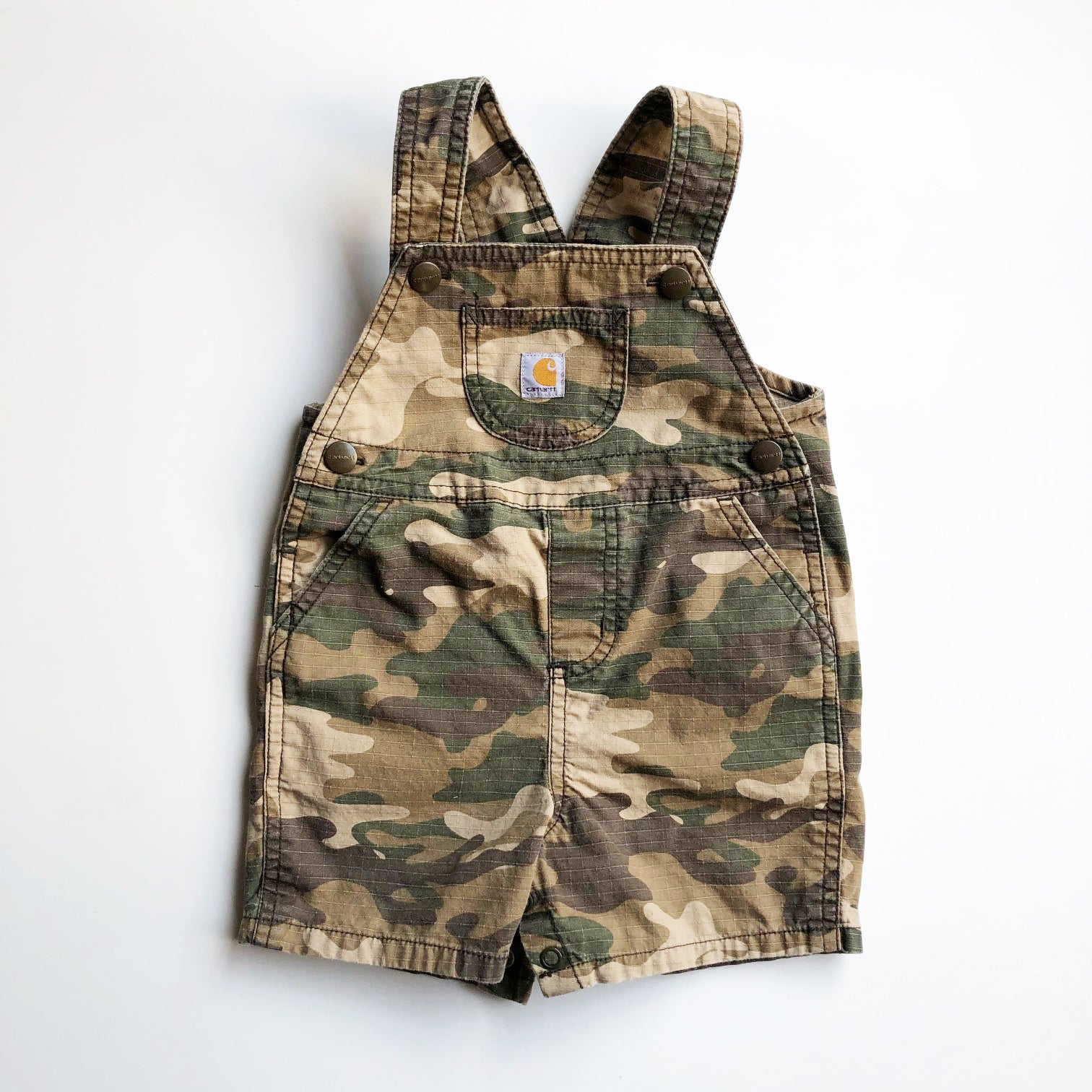 Carhartt Vintage Camouflage Short Overalls size 9 months