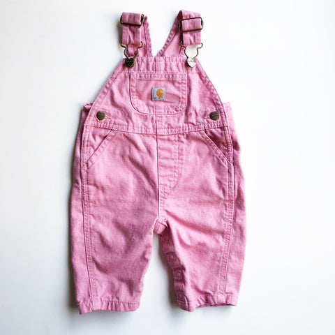 Carhartt Vintage Pink Overalls size 3 months