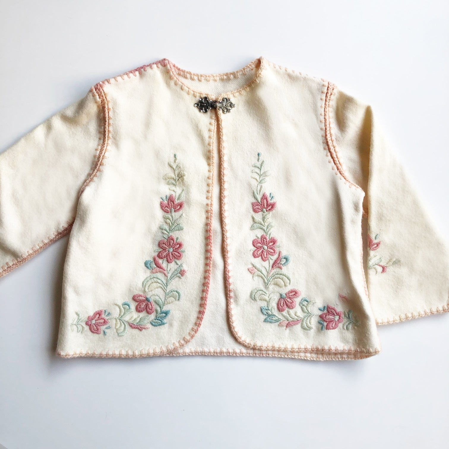 Norwegian wool Embroidered Baby Jacket size 18-24 months