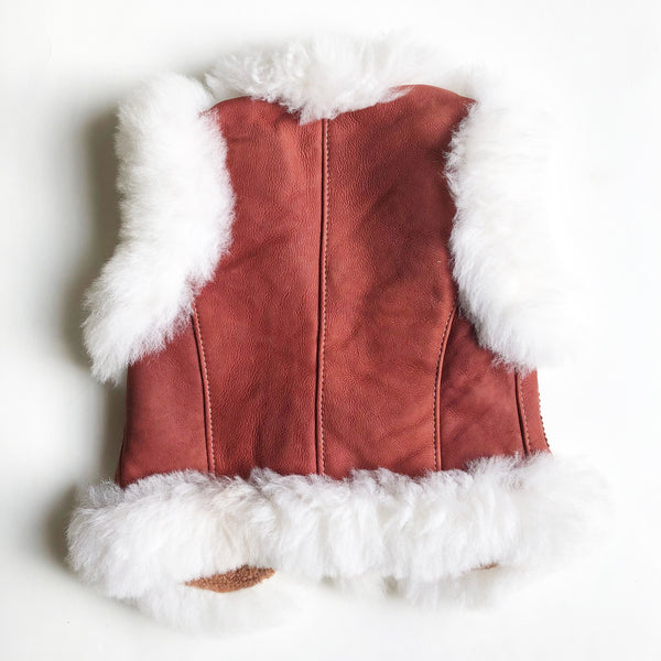 Suede and Faux Shearling Vest size 3-4