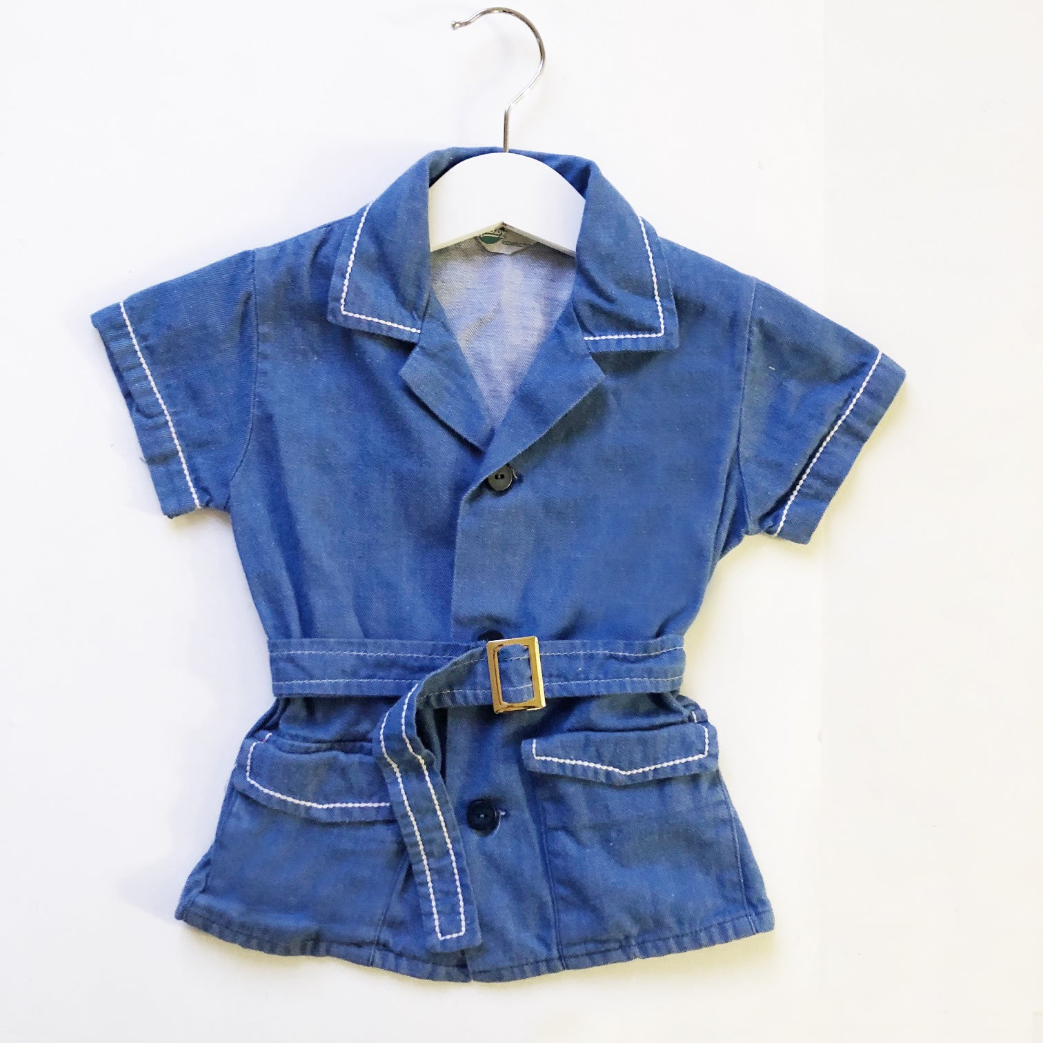 Chambray Denim Belted Shirt size 2-3