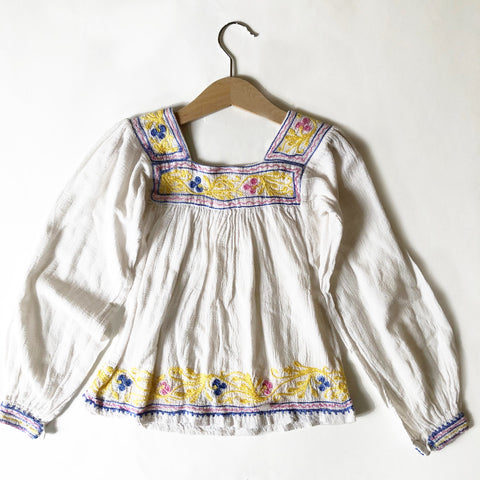 Embroidered Peasant Blouse size 5-6