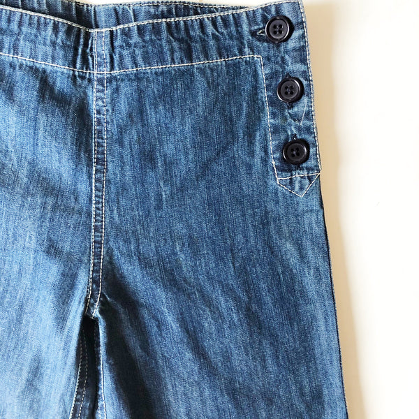 Denim Vintage Sailor Pants Size 6-7