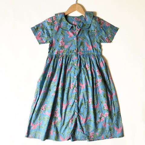 Pretty Floral Vintage Dress Size 6-7