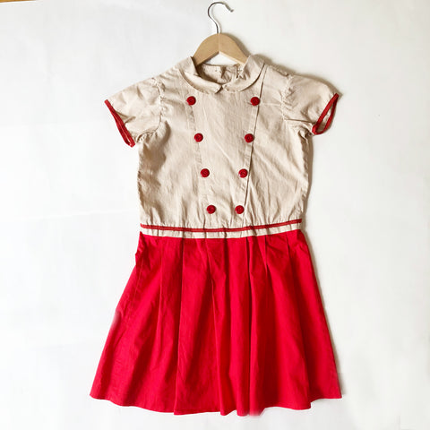 Pretty Red And Cream Dress size 5-6