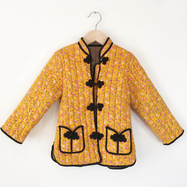 Quilted girls calico jacket 3-4