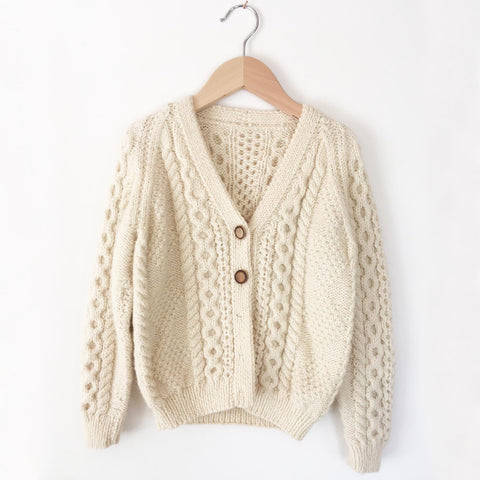 Arran hand knit sweater size 4-6