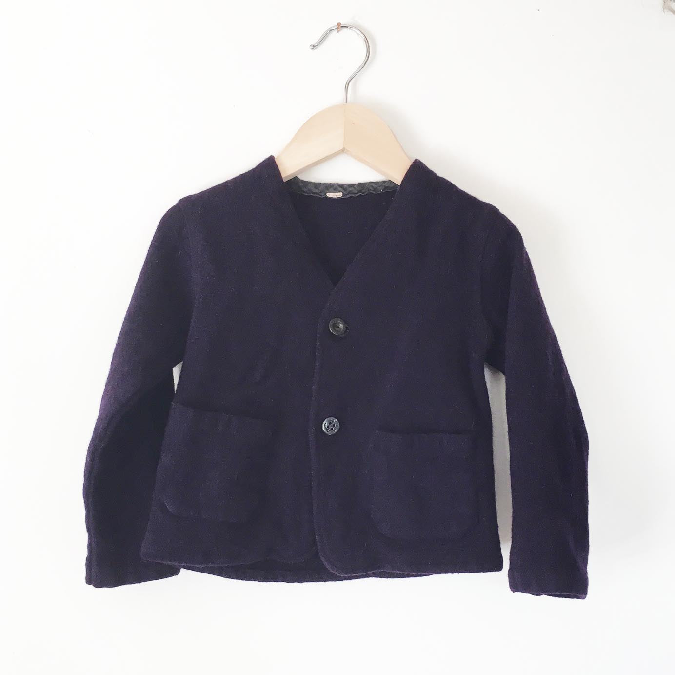 Indigo Boiled wool jacket size 12-18 months