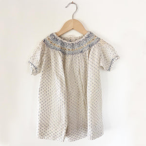 Polka dot smocked dress size 1-2