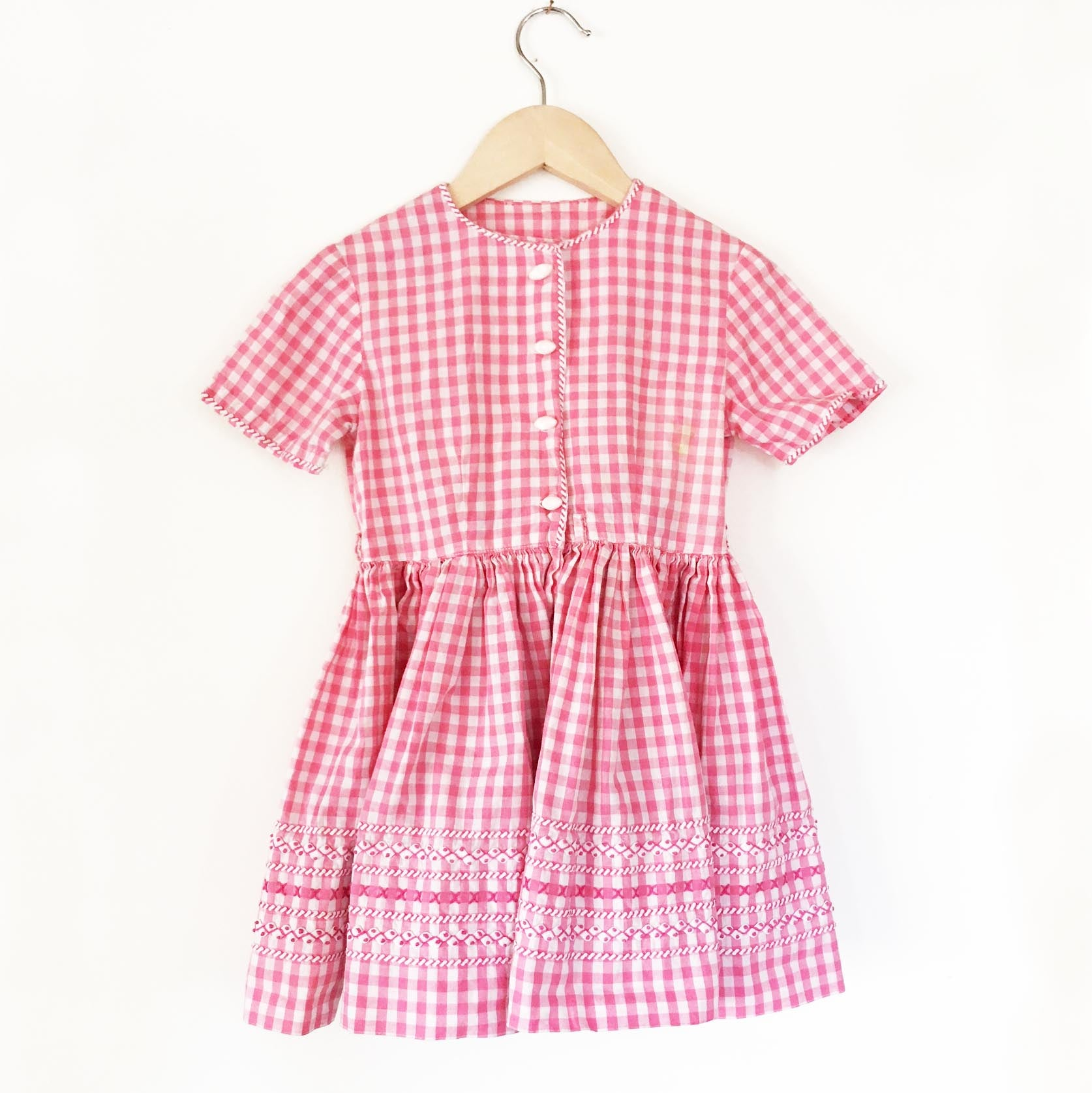 Gingham 40's dress size 3-4