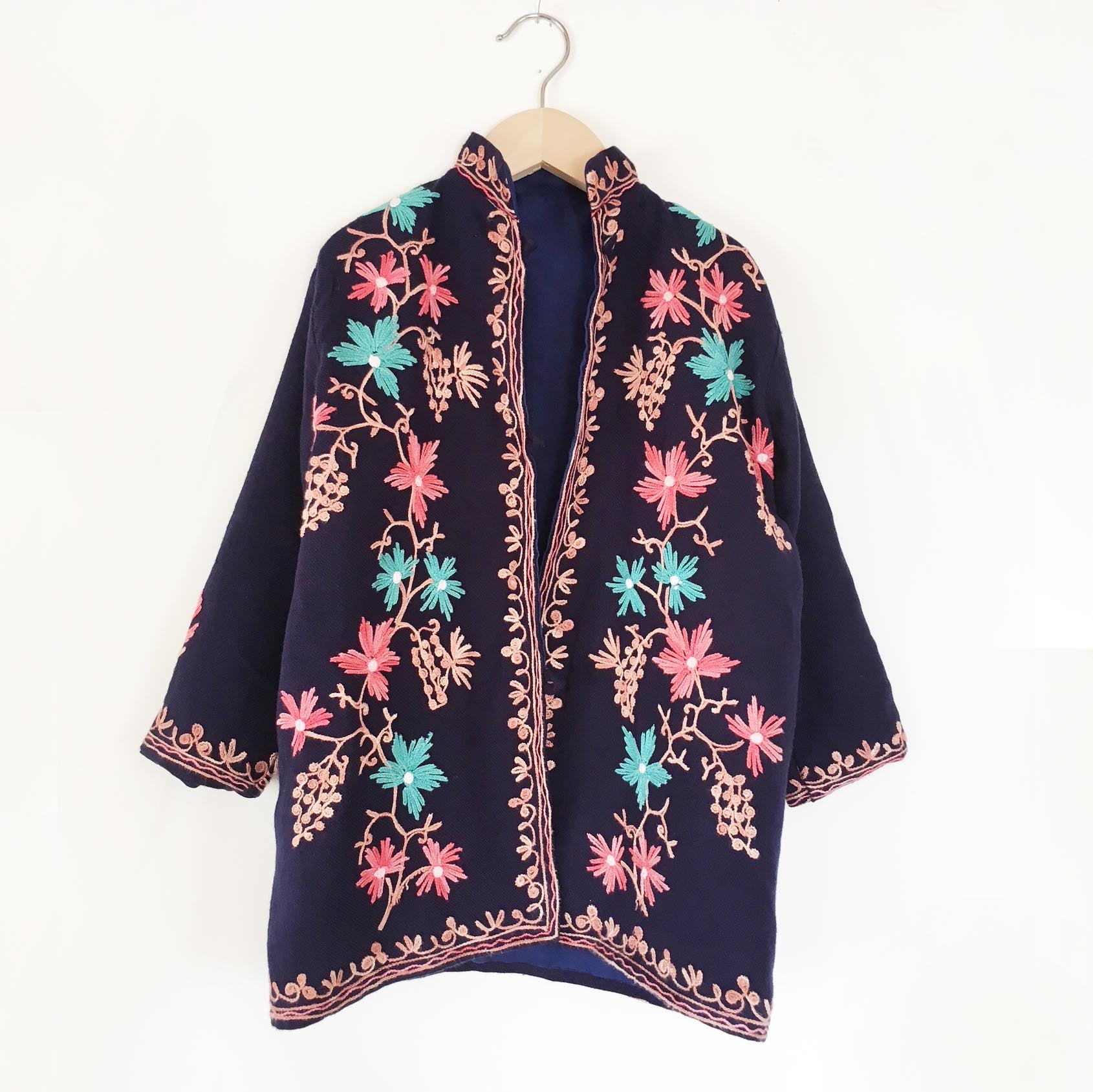 Embroidered wool jacket size 6-8