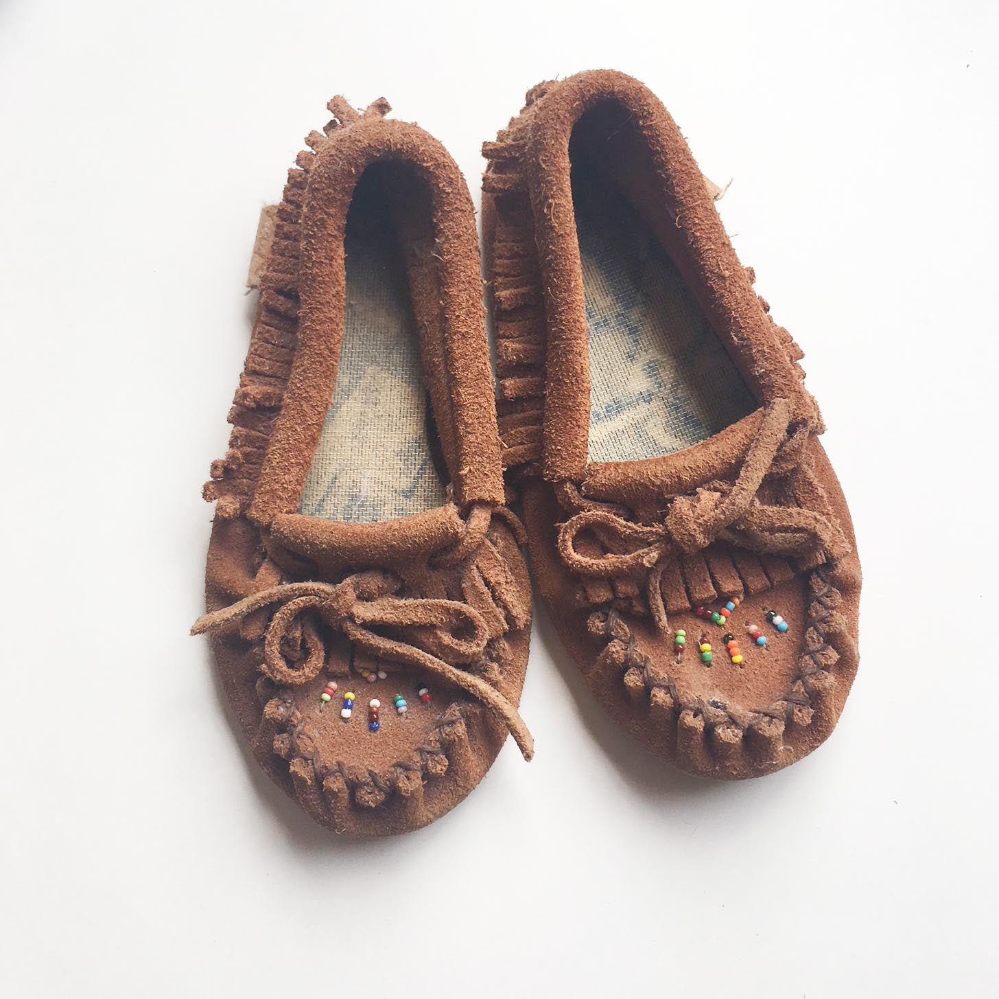 Beaded moccasin childrens size 7