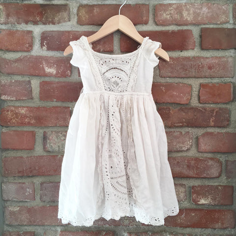 Victorian whitework dress size 6-12 months