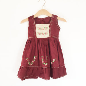 Embroidered peasant dress size 12-18 months