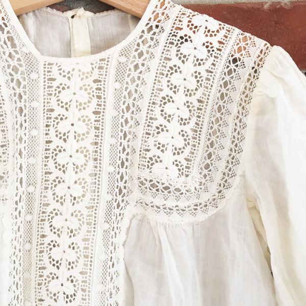Victorian lace cutwork blouse size 8