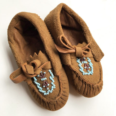 Little Suede mocassins size 3
