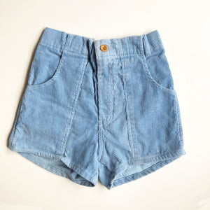 Baby Blue cord shorts size 8-10