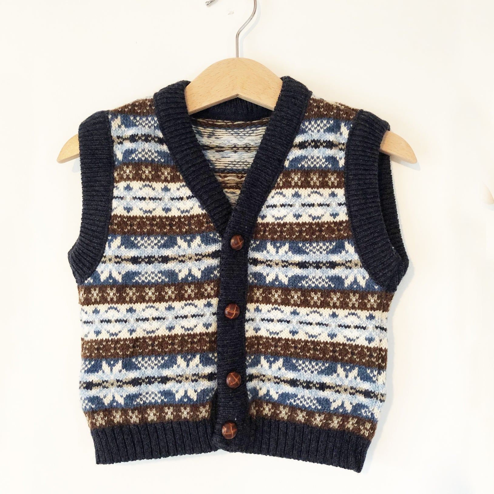 Little Fairisle Knit Vest size 1-2T