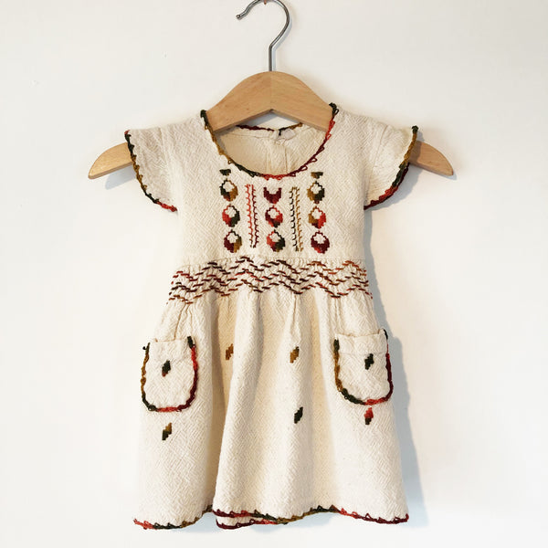 Oaxacan Embroidered Little dress size 6-12 months