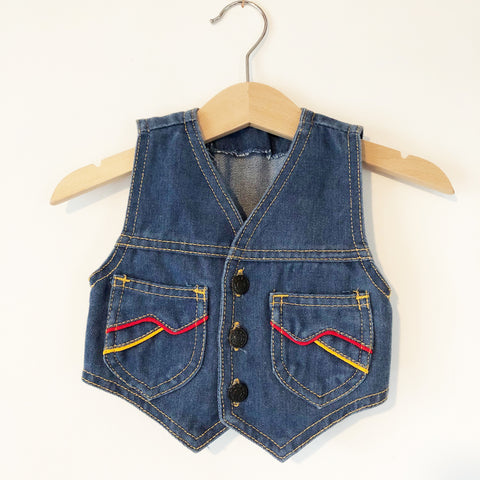 Little denim vest size 12-18 months