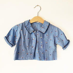 Little embroidered shirt size 6-12 months