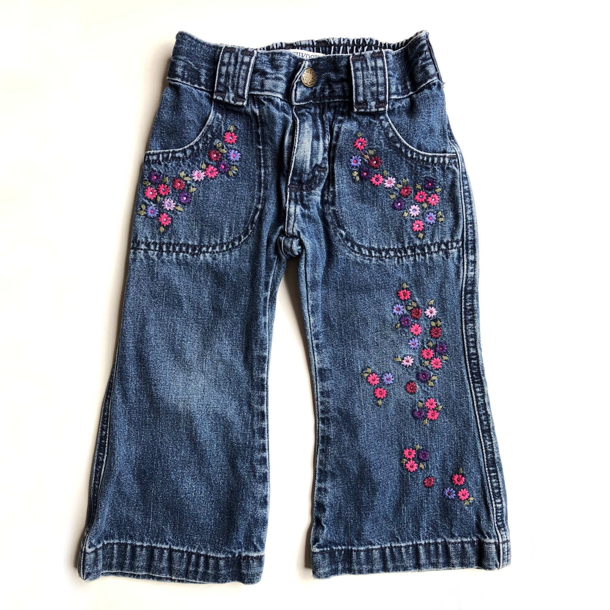 Vintage Oshkosh embroidered jeans size 12-18 months