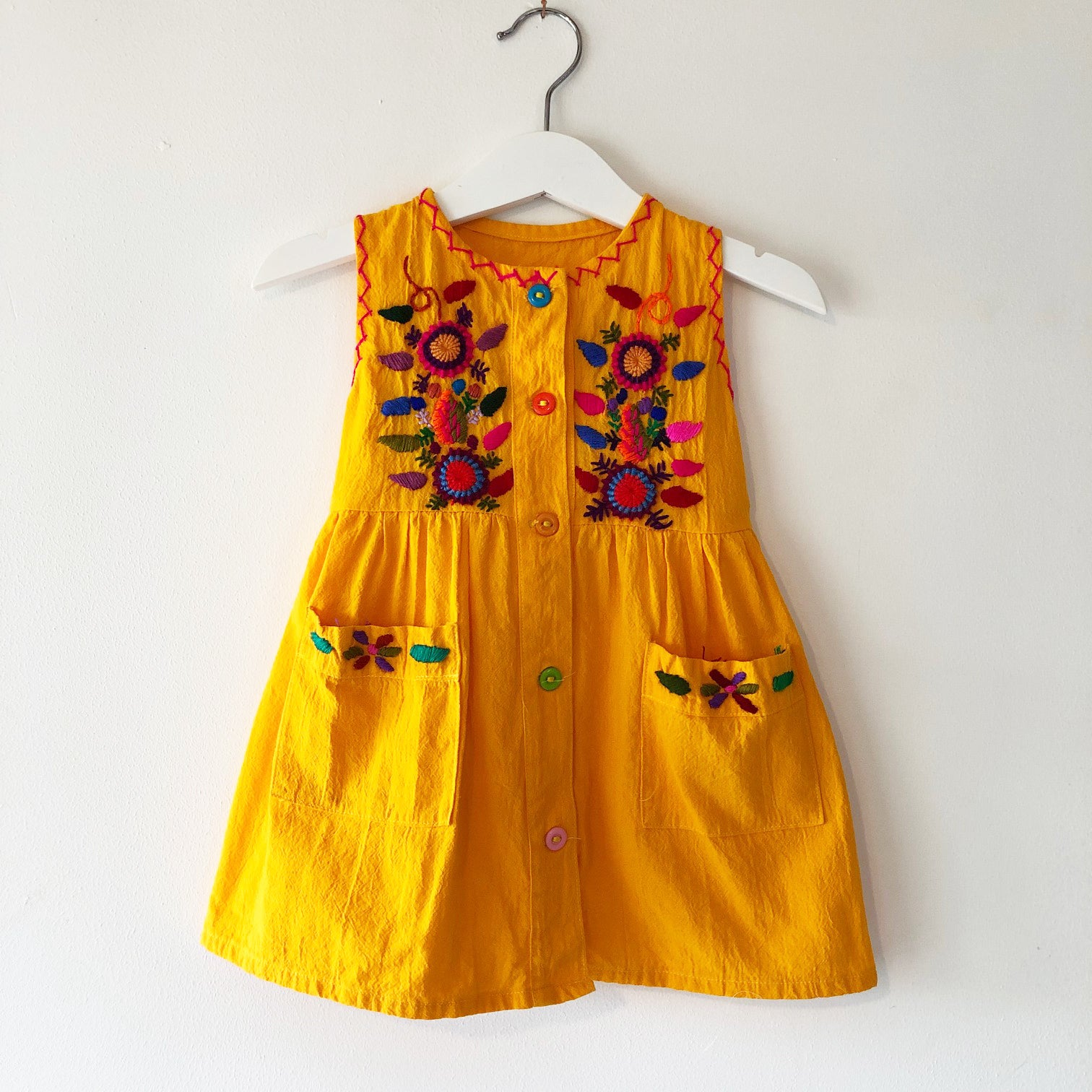 Oaxacan Embroidered Dress Size 1-2