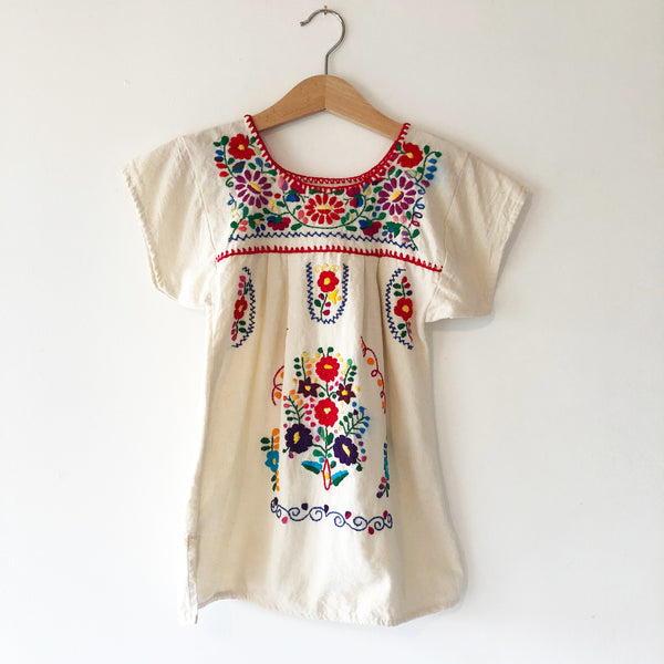 Oaxacan Embroidered peasant dress size 3-4