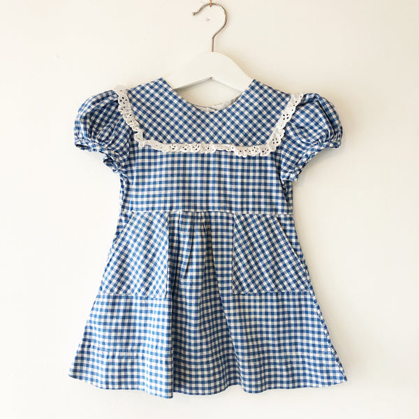 Vintage Gingham Dress size 12-18 months