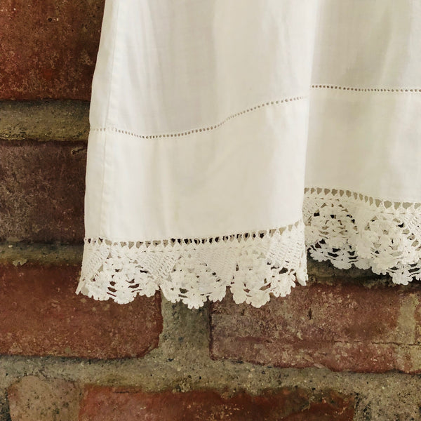 Victorian chemise with Crochet lace border size 12 months