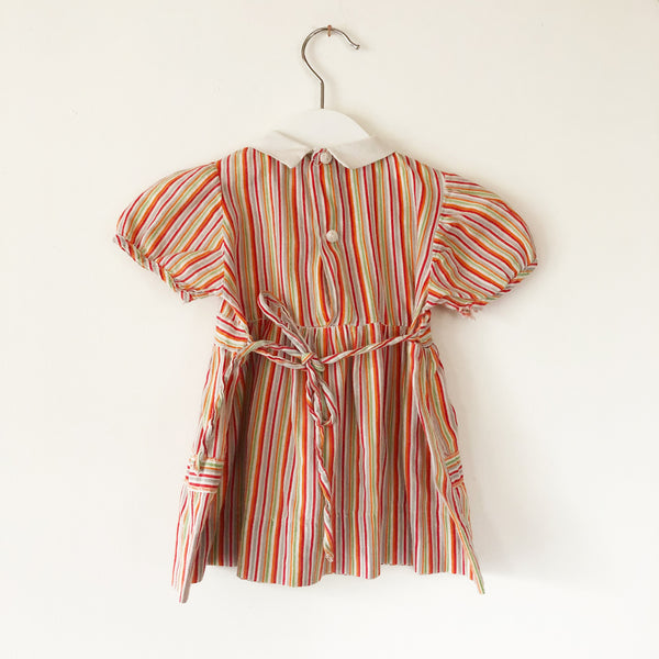 Baby stripe dress size 6-12 months