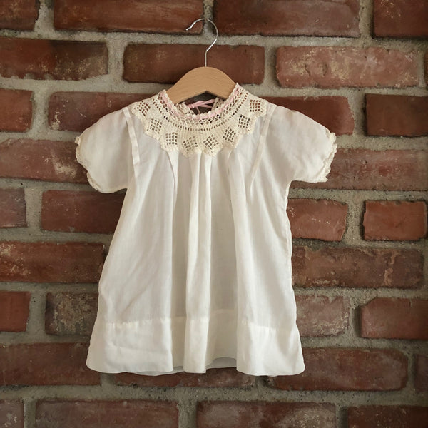 Victorian Crochet Lace Yolk Dress size 6-12 months