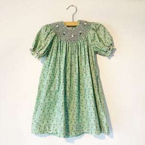 Little Ditsy Smocked dress size 1-2