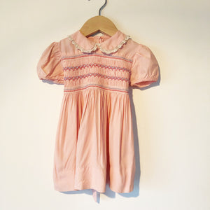 Baby Pink Smocked dress size 12-18 months