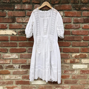 Victorian Whitework dress size 12-14