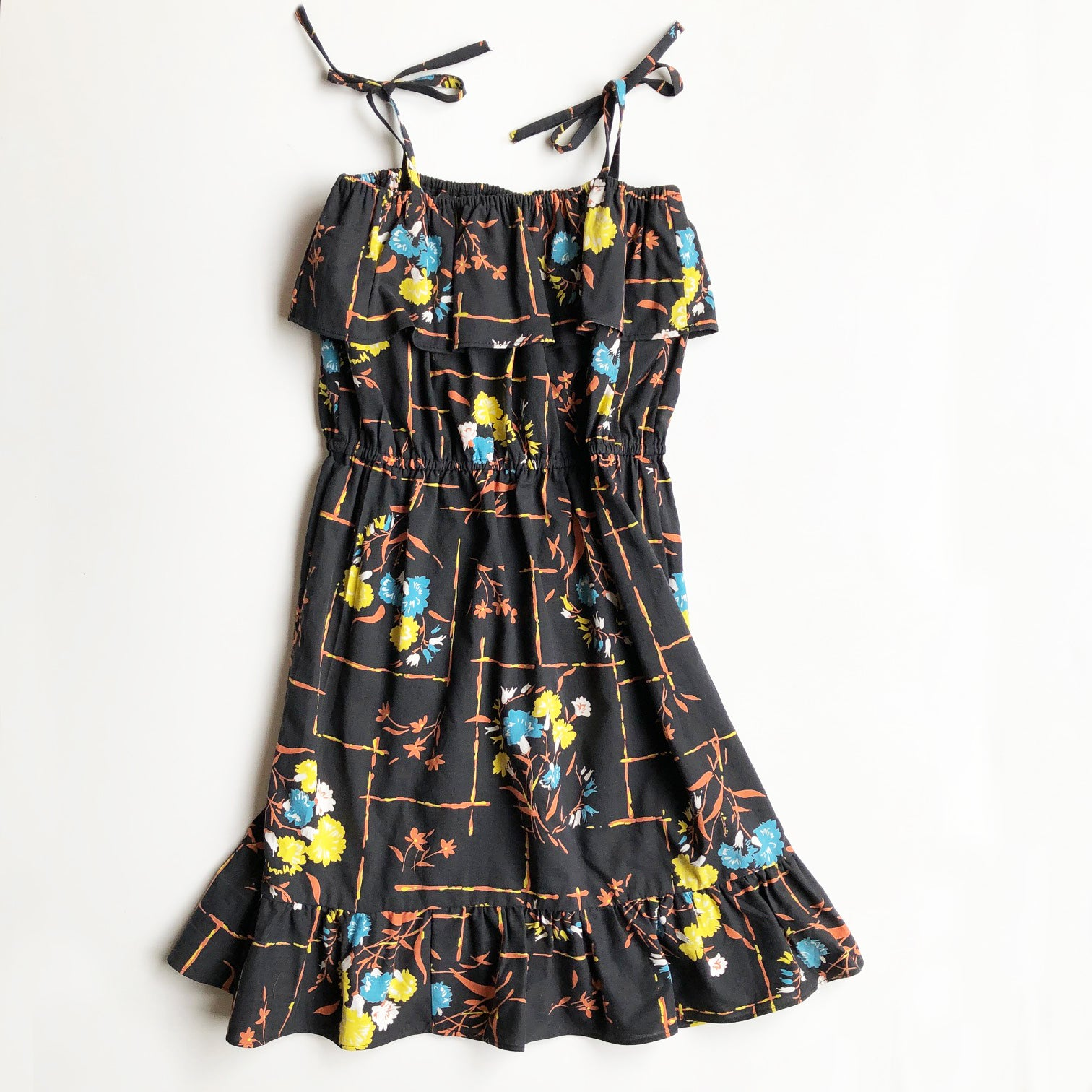 Chloe Re-purposed Dress in Black 40's print size 8
