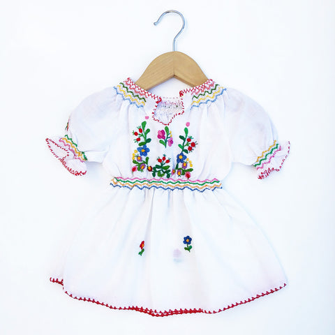 Perfect Embroidered Baby Peasant Dress size 3-6 months